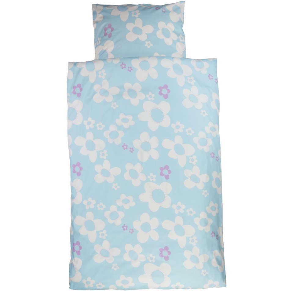Bio Kinderbettwäsche Blume Blau Caprice Bettenshop